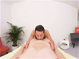 ANNA SWIX- drilling ON THE massage TABLE AND suck off