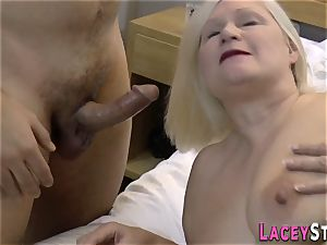 big-chested british granny torn up