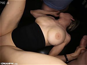 Gilf Diana takes 7 geysers in this super-hot group sex