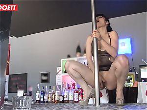 LETSDOEIT - French Stripper biotch gang-fucked at Work