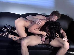 mind-blowing Romi Rain taunts and then gets porked firm
