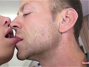 Rocco Siffredi drills the back port of a thin nubile