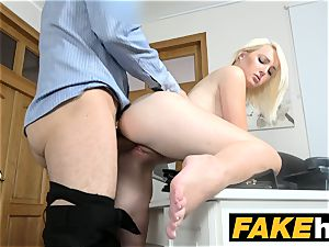 faux Agent super hot european light-haired hottie likes doggy fashion
