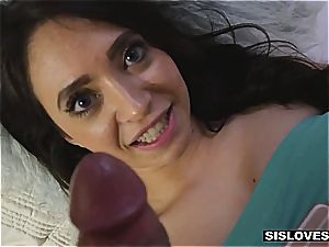 Stepsis make her wish of gargling her bro's ample bone a reality
