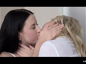 A nymph Knows - softcore girl/girl bang-out with molten Czech honies