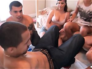 Lets have fun a game of twister with Kandy Kash and JC Simpson and a friend