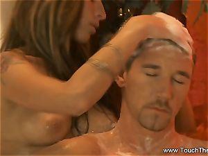 enduring Golden massage milf platinum-blonde