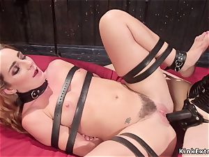 big-titted domina rectal romps trussed girl/girl