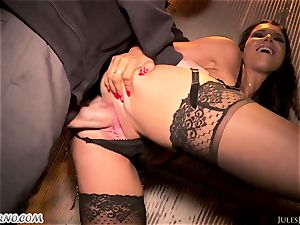 Romi Rain - unbelievable steaming inexperienced pornography in the street