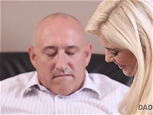 DADDY4K. nubile Candee Licious copulates with boyfriend s magnificent dad