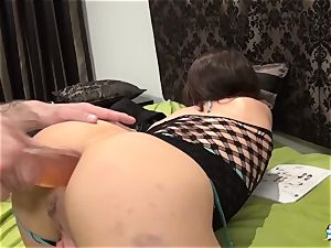 La Cochonne - Mature French first-timer luvs booty fisting