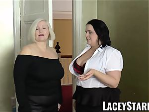 LACEYSTARR - chicks cummed on their torrid faces by big black cock