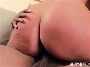 Alura Jenson slammered nut sack deep and receives hot super-fucking-hot internal ejaculation