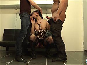 LaCochonne - French Julia Gomez in super-hot buttfuck 3some
