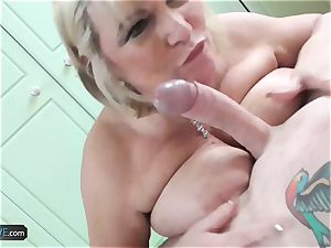 AgedLovE Mature plumper blond Alisha hard-core