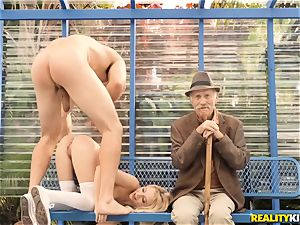 grandpa getting a eye utter