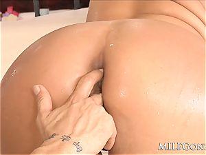 MILFGonzo fat blondie cougar Phoenix Marie gets rectally pulverized