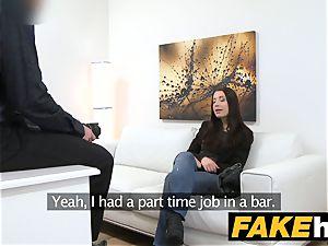 fake Agent virginal wondrous black-haired loves sucking