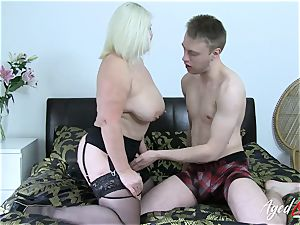 AgedLovE chesty Mature Lacey Starr gonzo lover