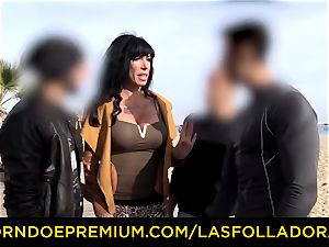 LAS FOLLADORAS - killer performer gets jizz in facehole