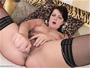 romp with mature female old biotch