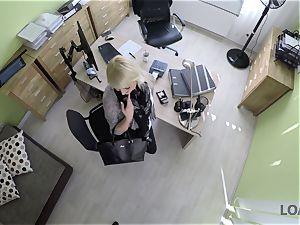 LOAN4K. Blonde-haired miss gets sissy plowed rock hard in loan porn vid