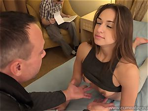 Sara Luvv Cuckolds Her husband and Makes him blow rod