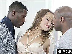 BLACKED Dani Daniels vs 2 immense bbc!