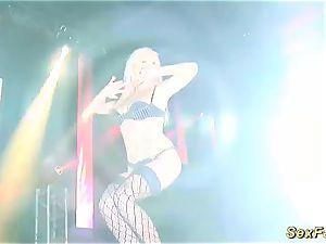 My busty German stepmom nude on stage
