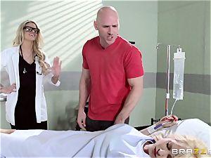 super-hot doc Jessa Rhodes checks out this immense spear