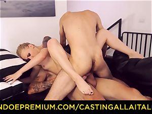 CASTNG ALLA ITALIANA - ash-blonde vixen tough double penetration fuck-fest
