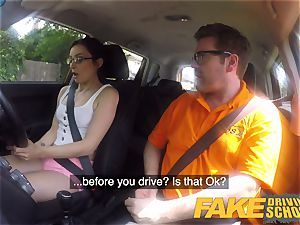 fake Driving college sizzling Italian nympho minx