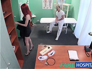 FakeHospital ultra-cute redhead rides physician for cash
