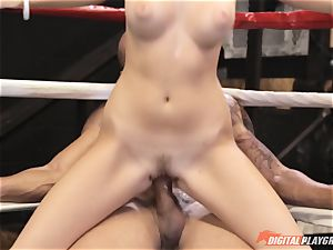 Alexis Adams coochie wrinkled in the boxing ring by large meatpipe