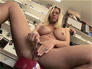 scorching Devon Lee enjoys teasing her sweet humid joy button