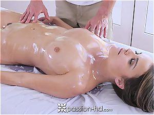 Passion-HD - Dillion Harper raw rubdown with facial cumshot