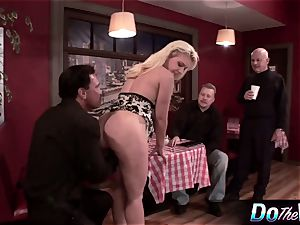 platinum-blonde wifey gets her backdoor plugged