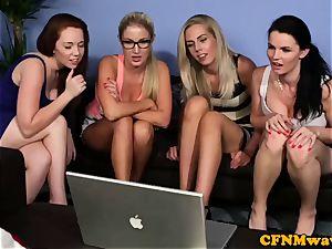 Cfnm gang joy with Tasha Holz and buddies